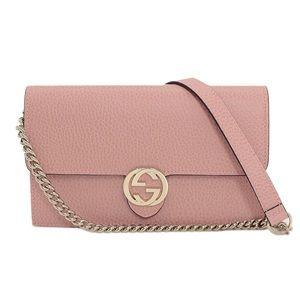 Gucci Interlocking G Crossbody Wallet On Chain Bag